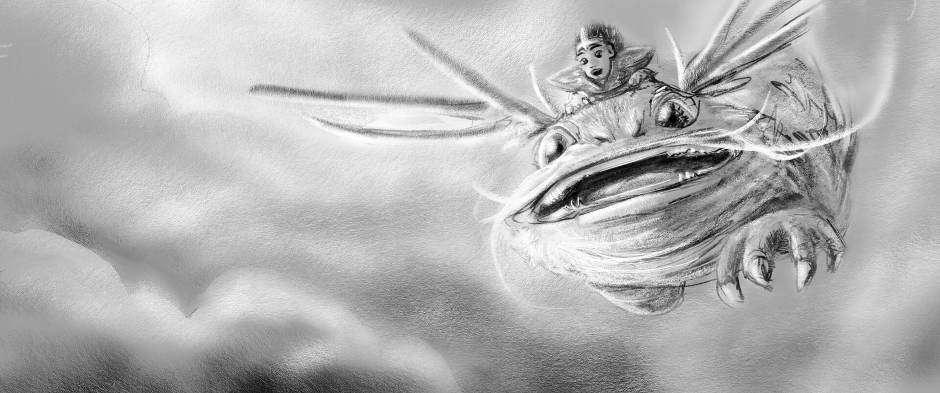 Hunter culberson mojo dragon sketch