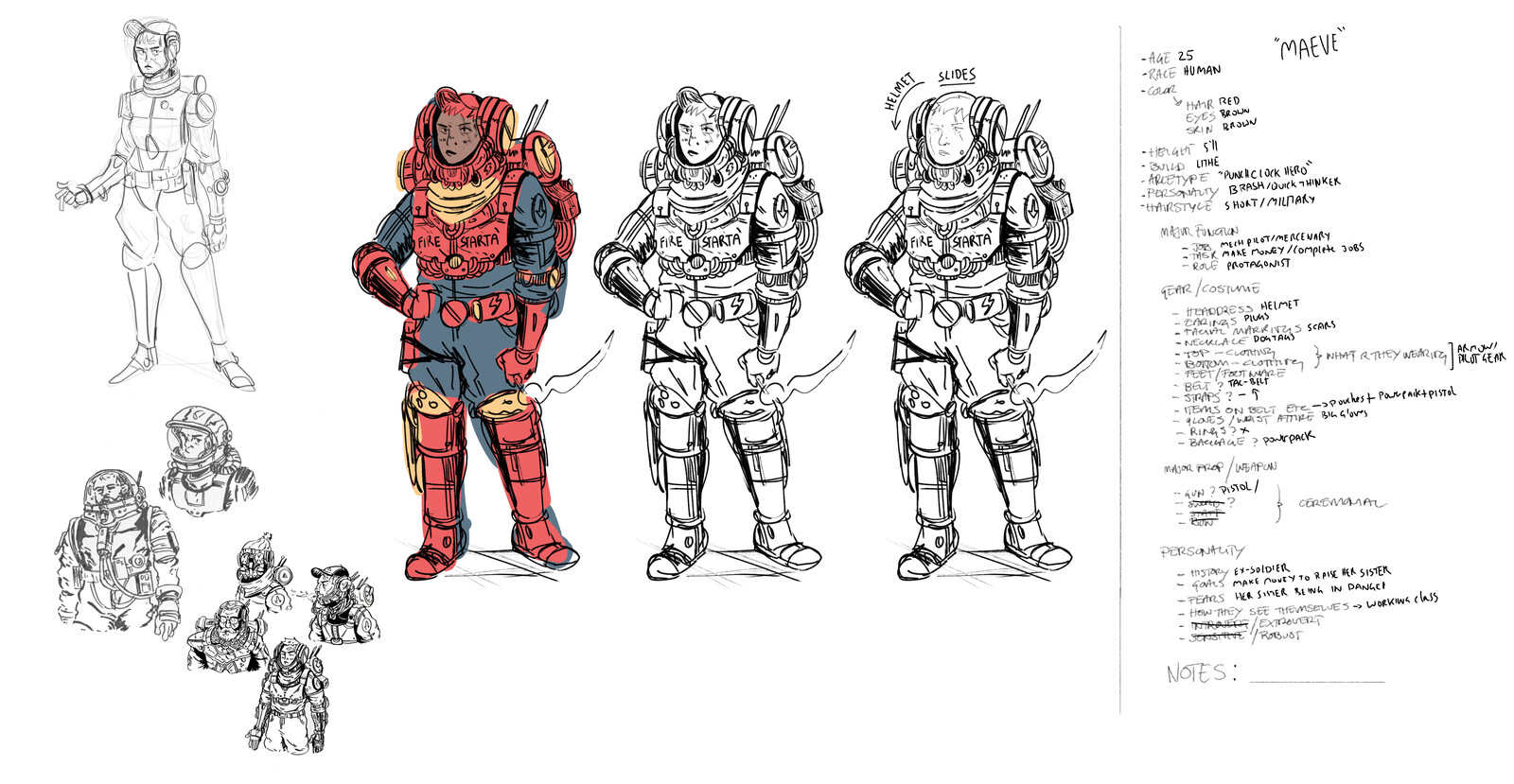 Initial sketch and concept design
