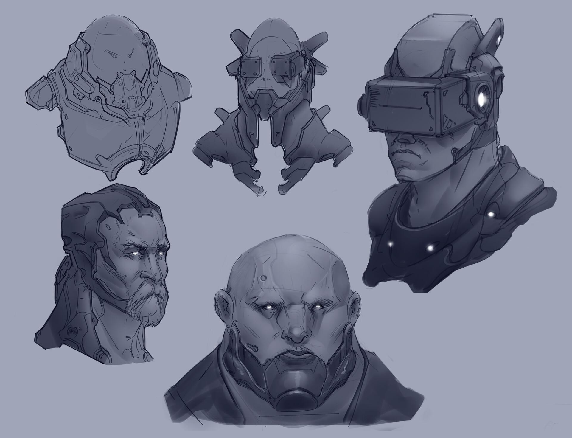 Further head exploration.