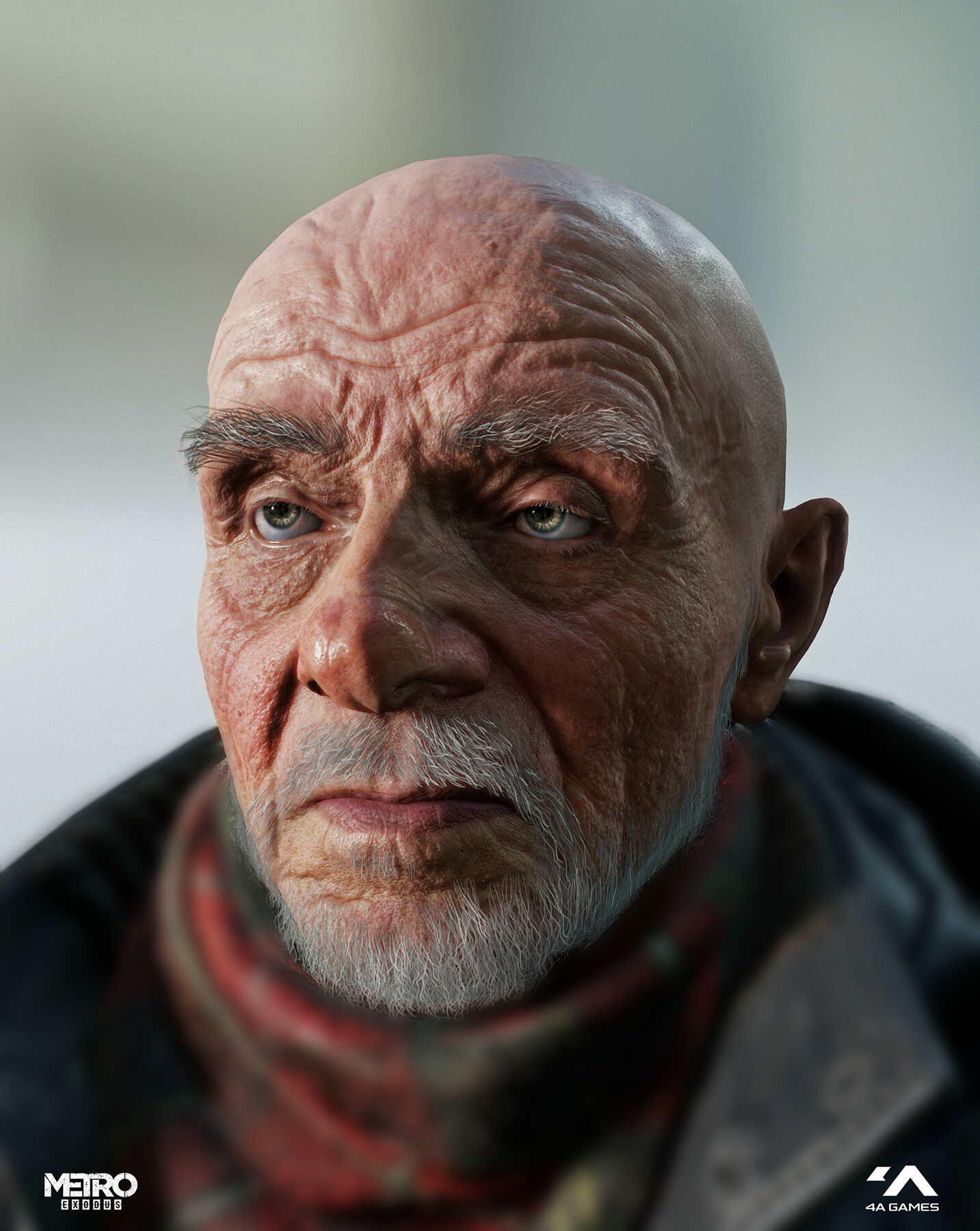 Game model rendered in 4a Engine. Beard and clothing done by another artists