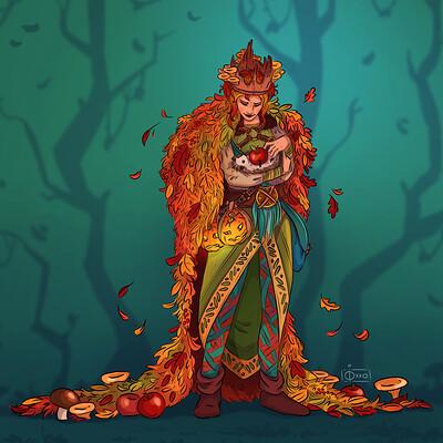 Oixxo art 2019 09 25 autumn forest queen
