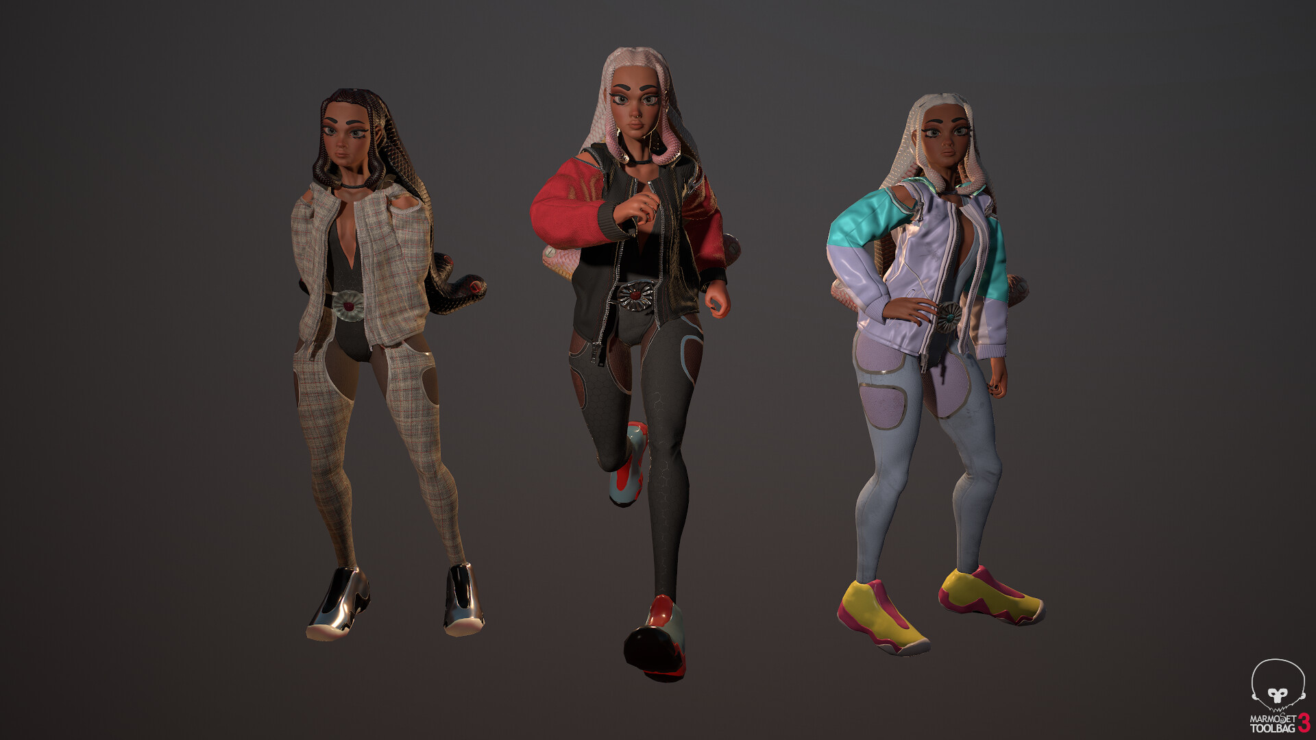 SUZU, MODERN MEDUSA - My own character concept made using zbrush, maya, and marvelous.