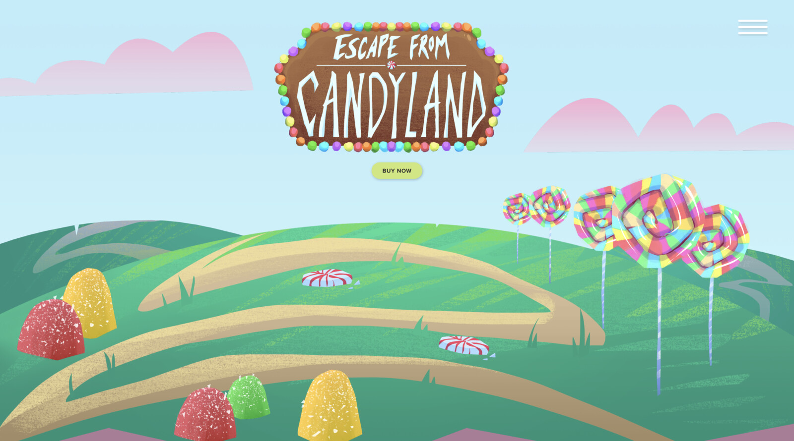 Candyland Game Mock Website
