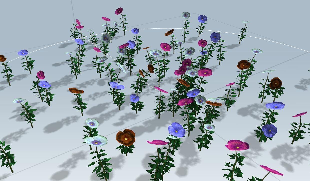 Justin hrala flowers speedtree wip 01