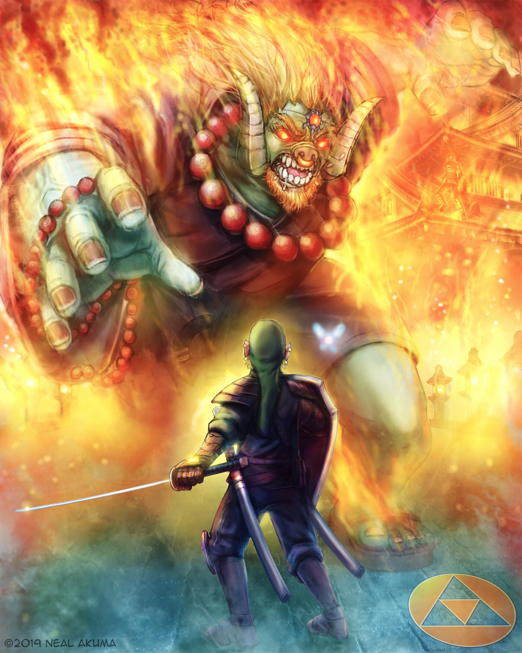 Artstation Zelda Link Vs Ganon 1 Neal Akuma