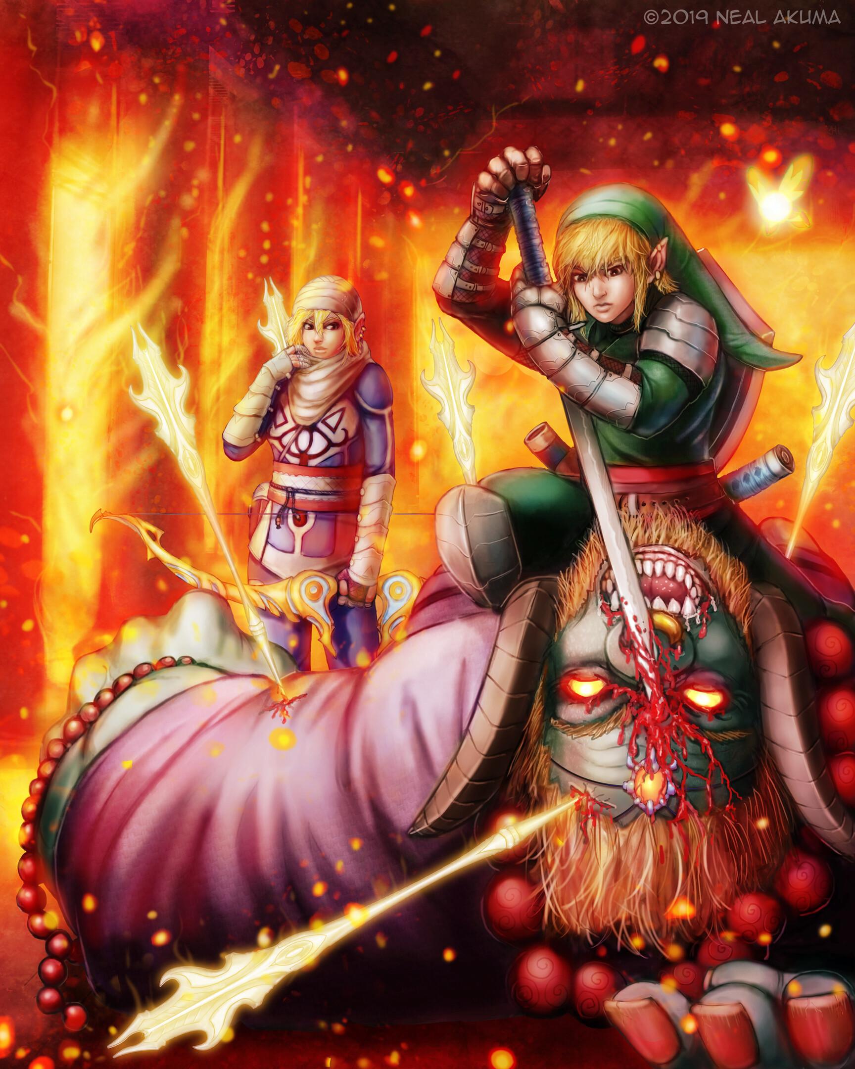 Neal Akuma Zelda Link Vs Ganon 3