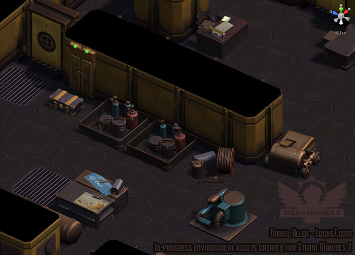 The game itself is not isometric, but I couldn't resist trying it out during development of these scenery objects.