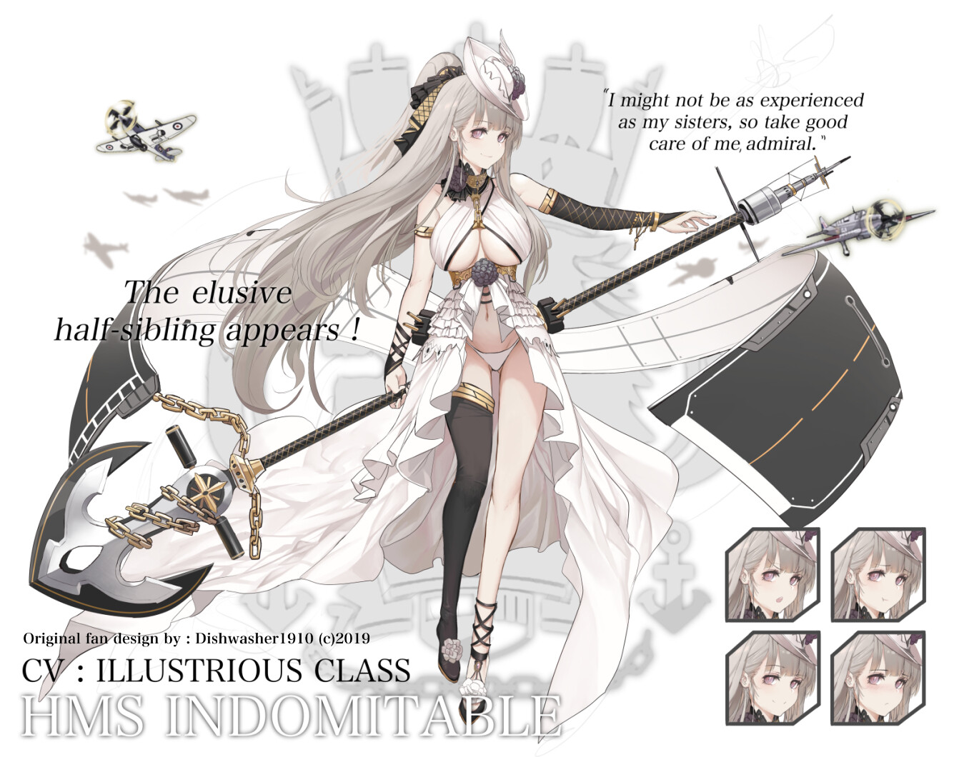 HMS Indomitable - Azur Lane fandesign