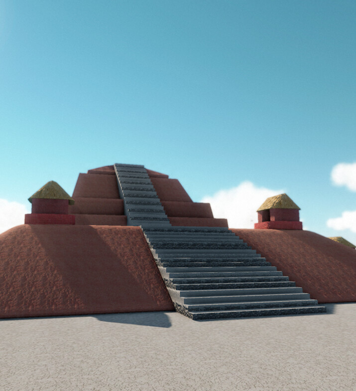 """Structure 4 with CryEngine 2.0 - 2014 Exhibit """"Maya City by the Sea"""" at the Florida Museum of Natural History"""