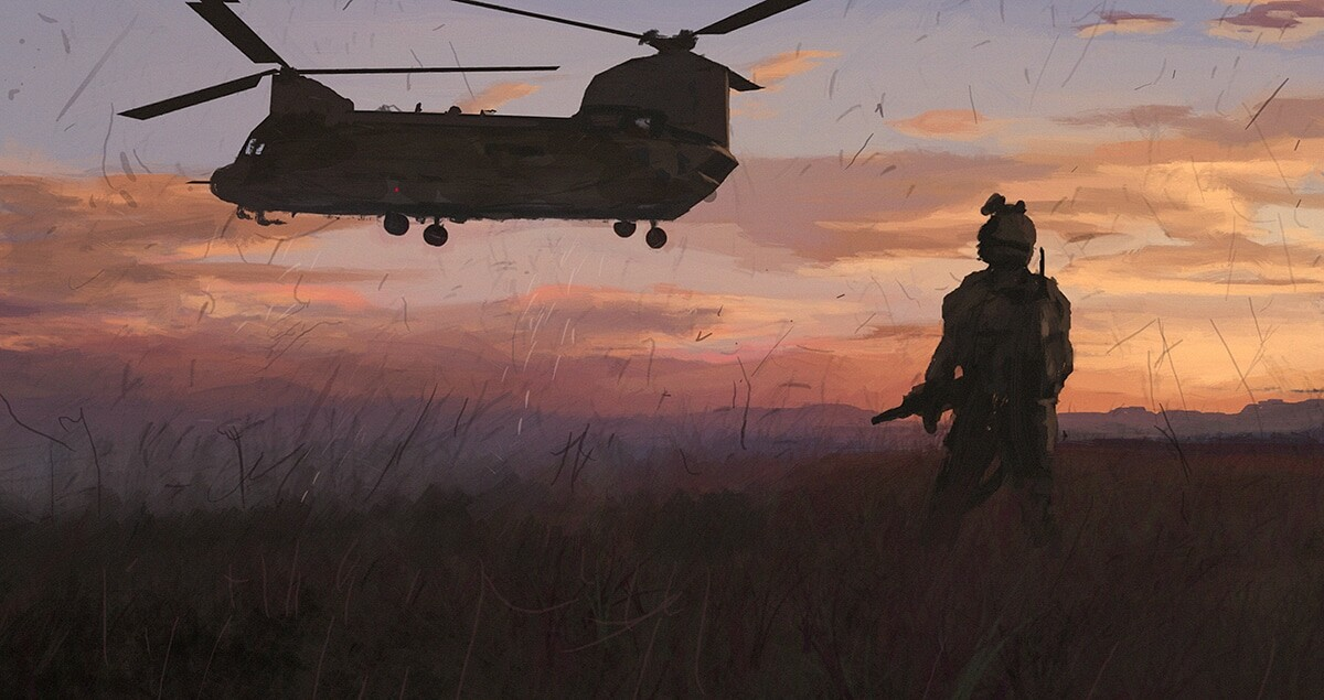 Soldier Sunset Study