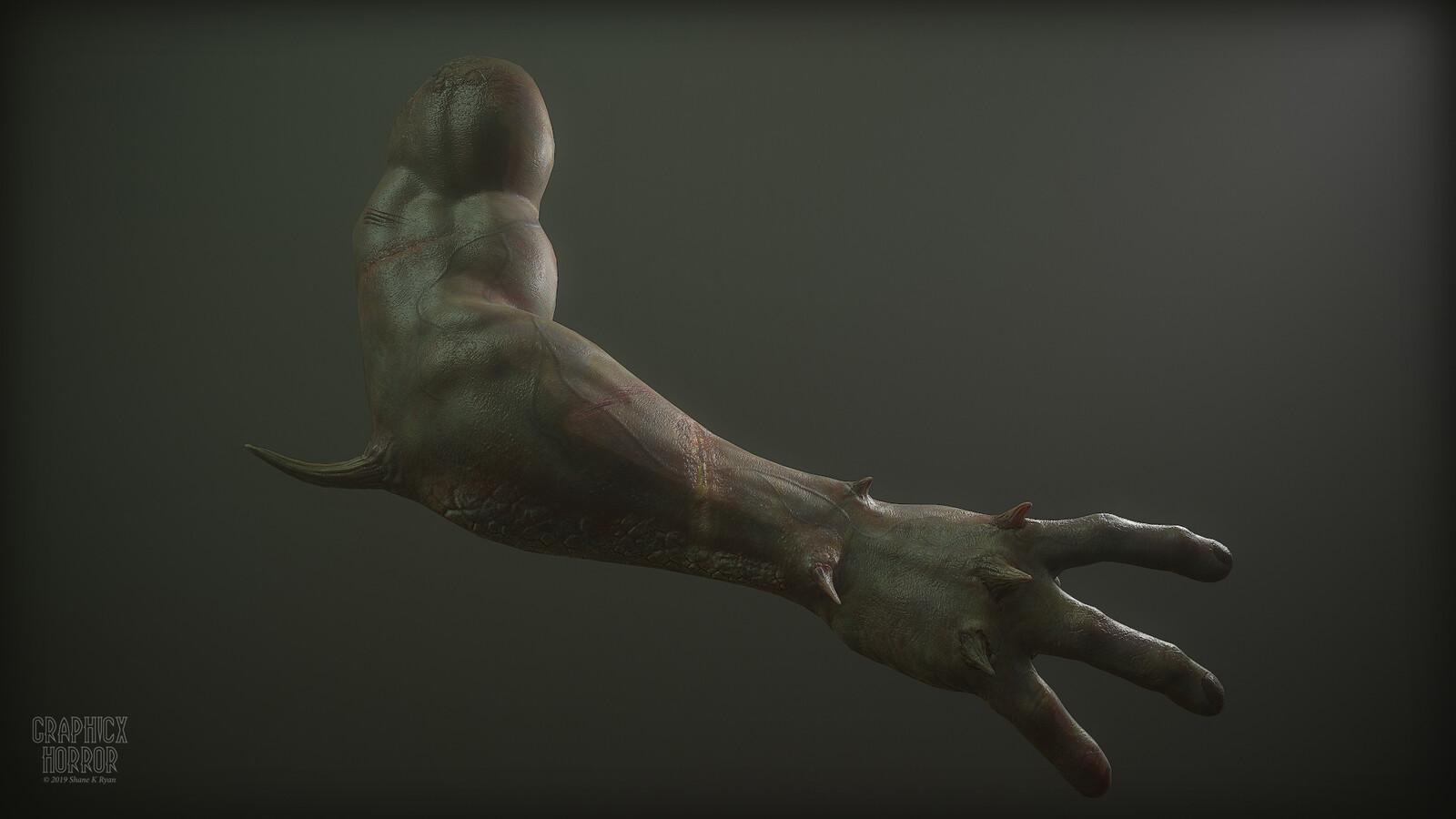 Arm Anatomy Study - Demon, Ogre and Human