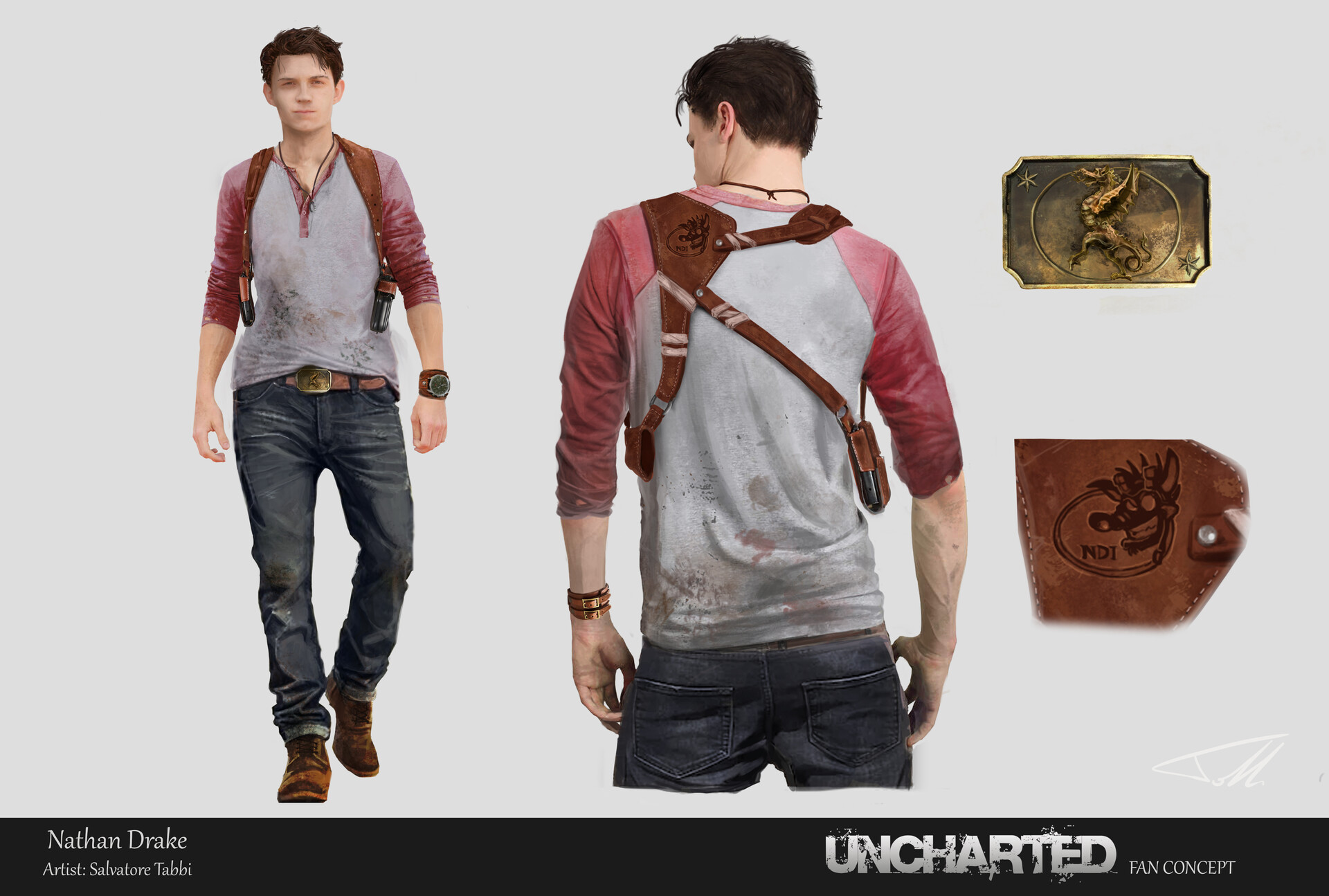 Artstation Nathan Drake Uncharted Movie Fan Concept Salvatore Tabbi