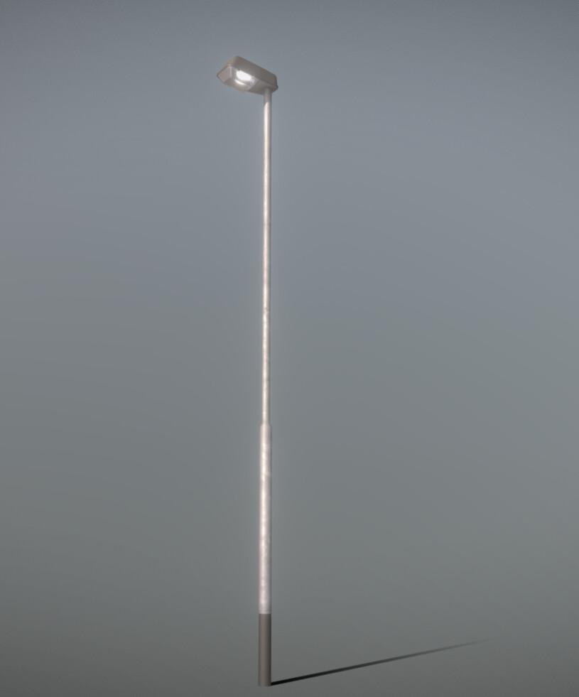 Street Light (3) (High-Poly Version)
