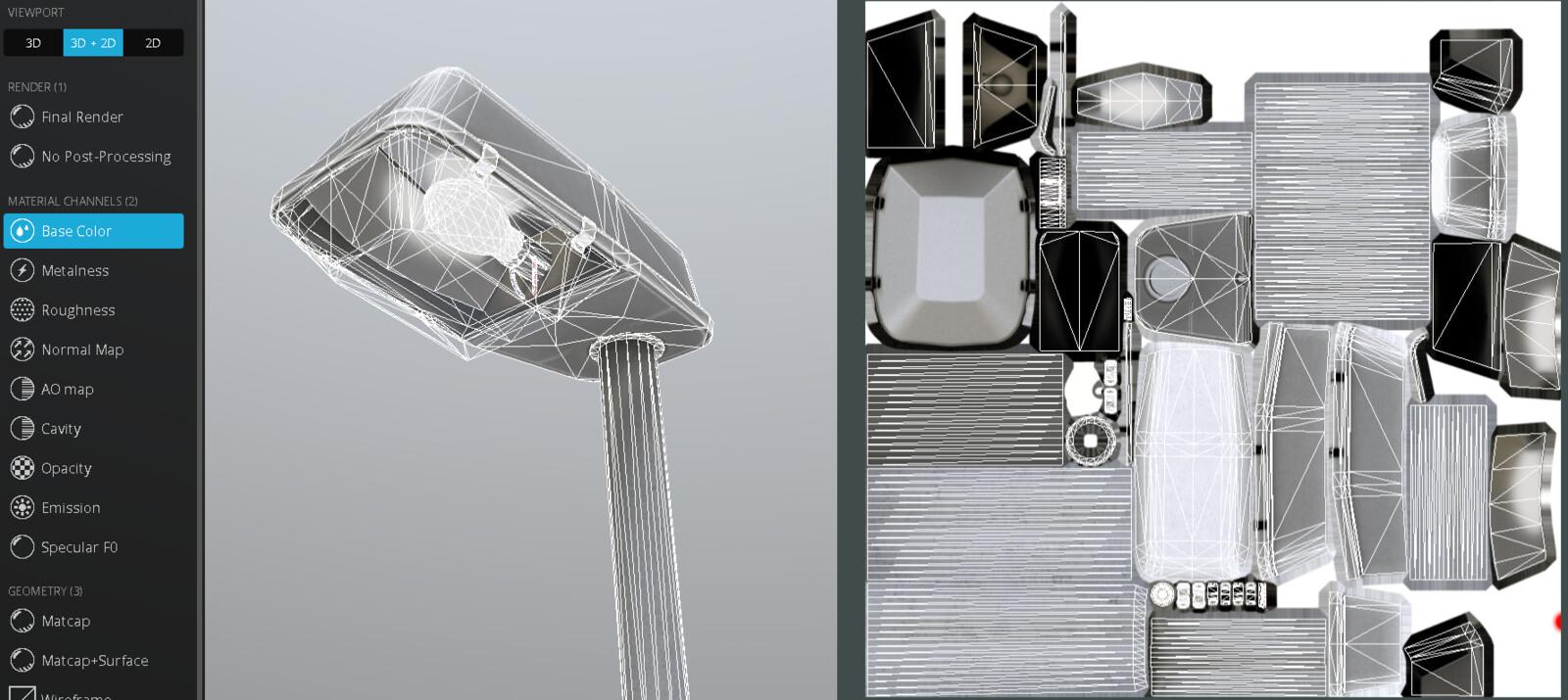 Street Light (3) (Low-Poly Version)
