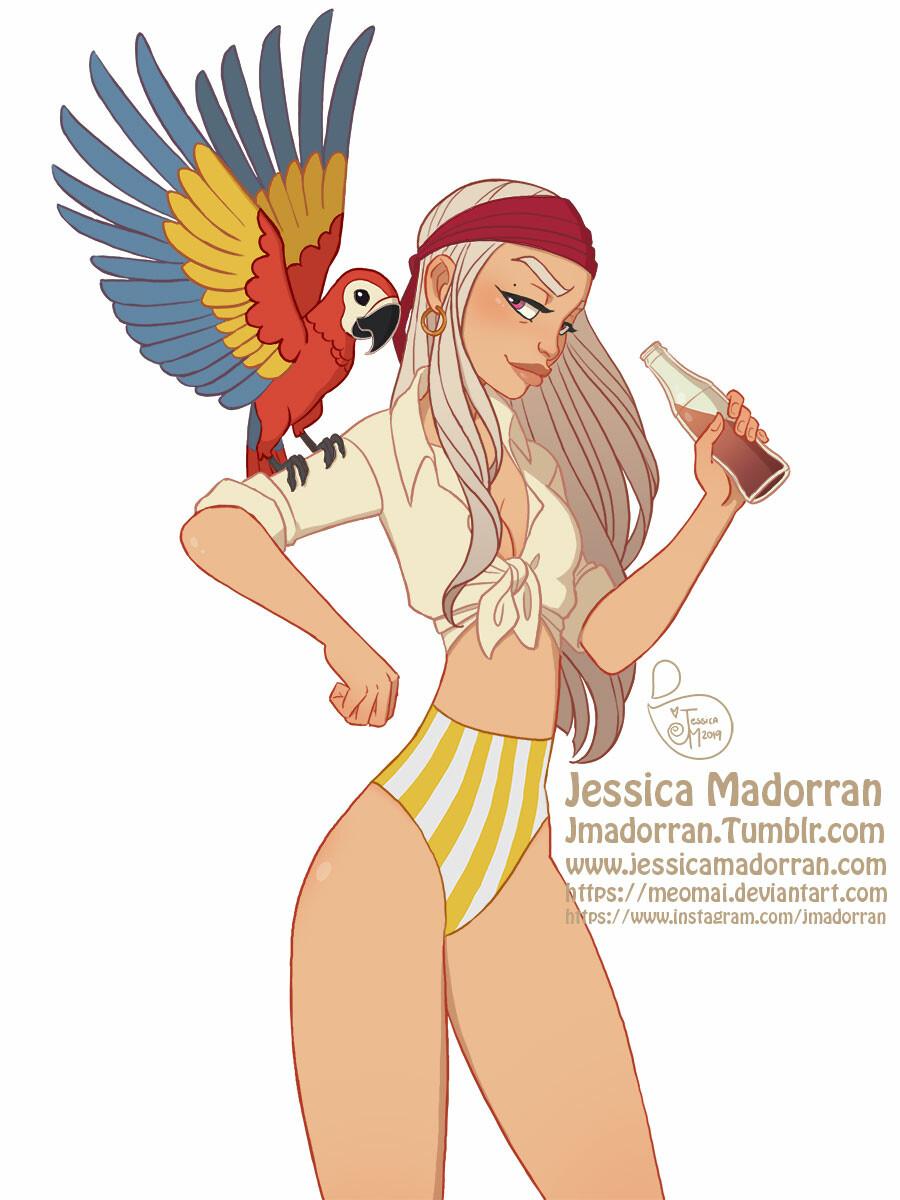 Jessica madorran character design pirate summer 2019 artstation