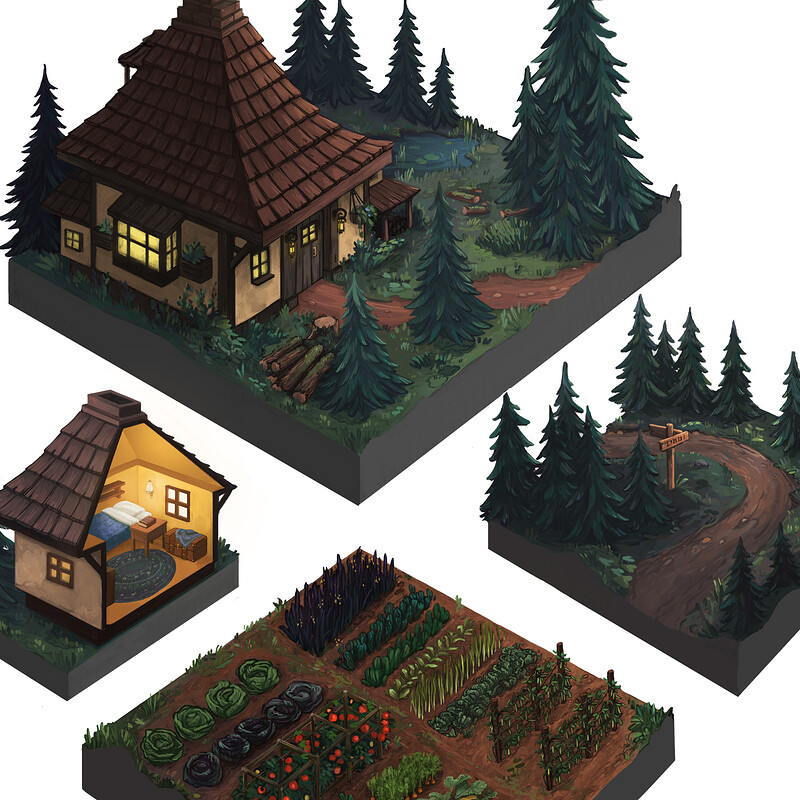 Isometric game environments