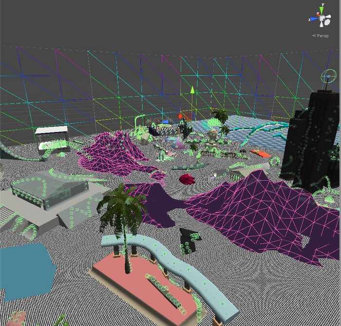 Editor view, work in progress screenshot