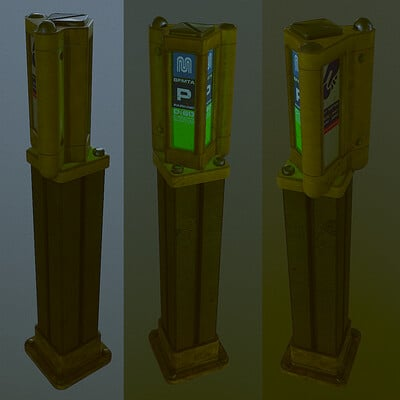Gaurav mathur parking meter marmoset renders