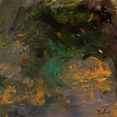 "ZEN abstract painting ""Japanese garden"""