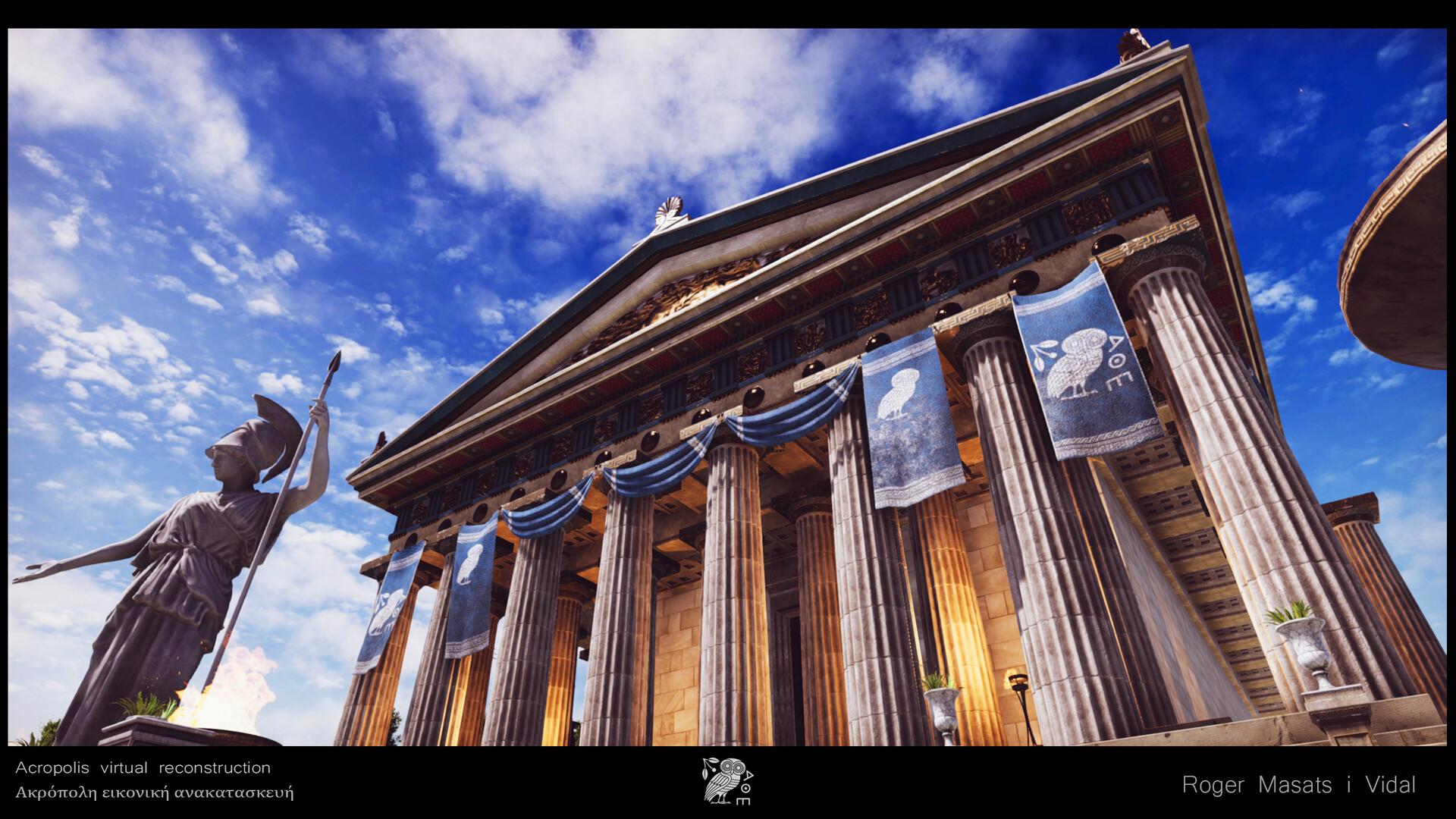 Athena Parthenos facade