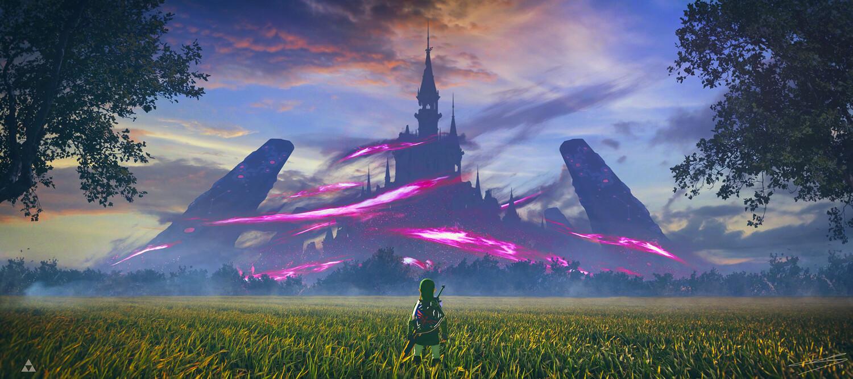 Artstation Hyrule Castle Zelda Botw Jerome Comentale