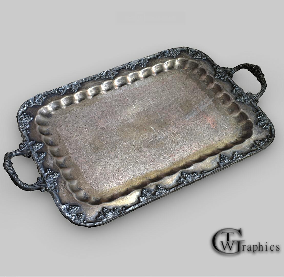 Artstation Antique Silver Serving Platter Trevor W Graphics