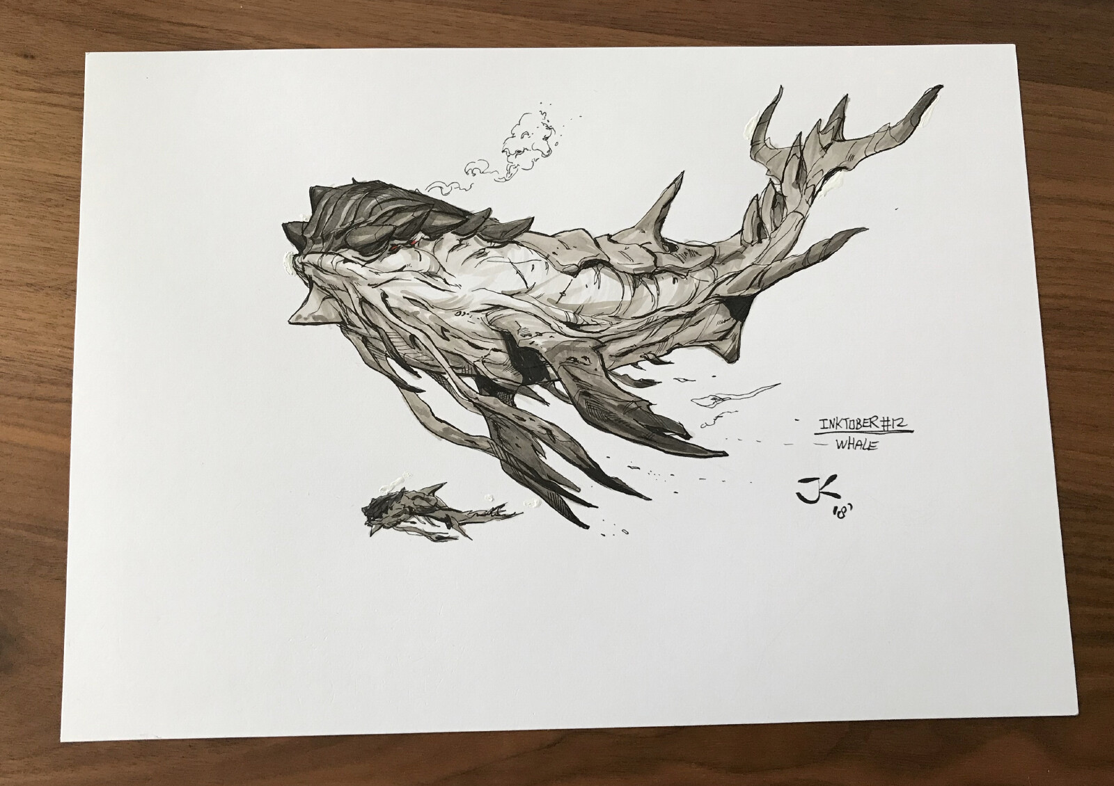 Inktober day 12: Whale