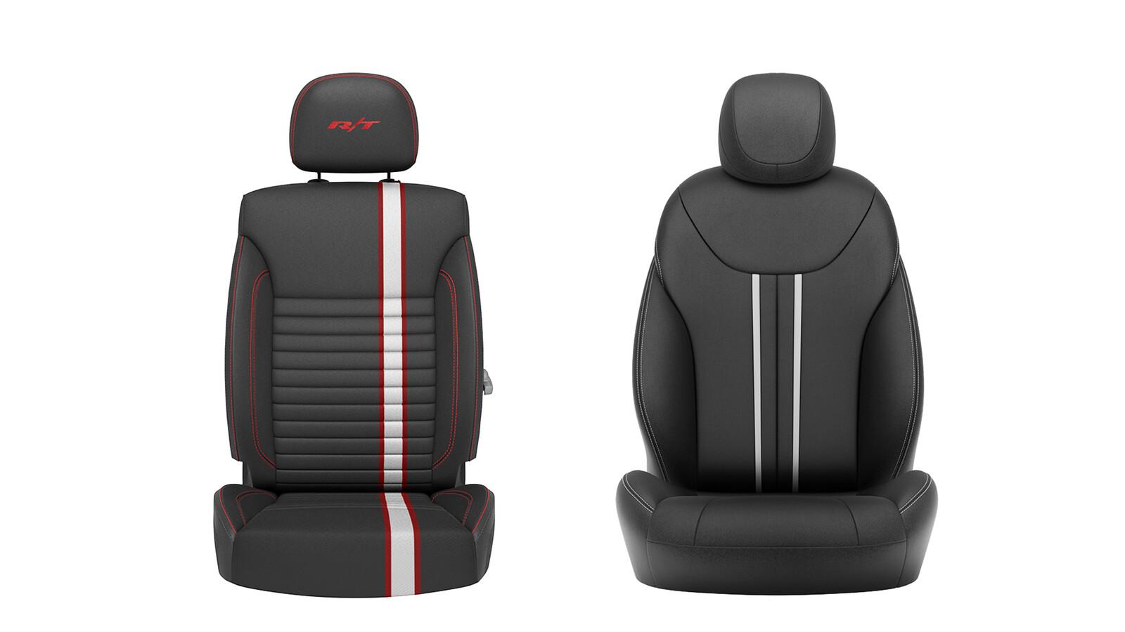 Dodge Seats Tasks: Materials, Lighting, & Retouching