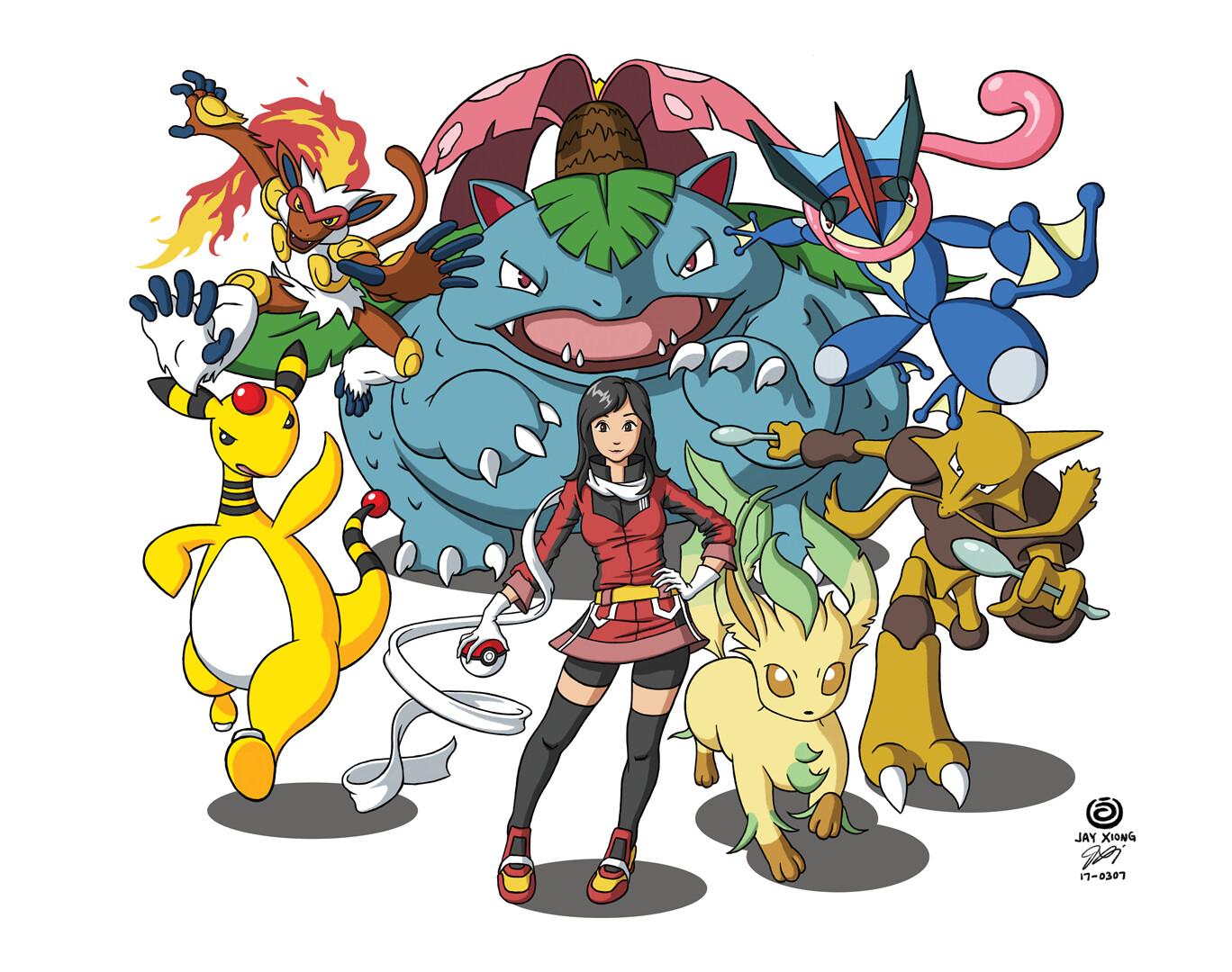 Pokemon Party Digital Painting
