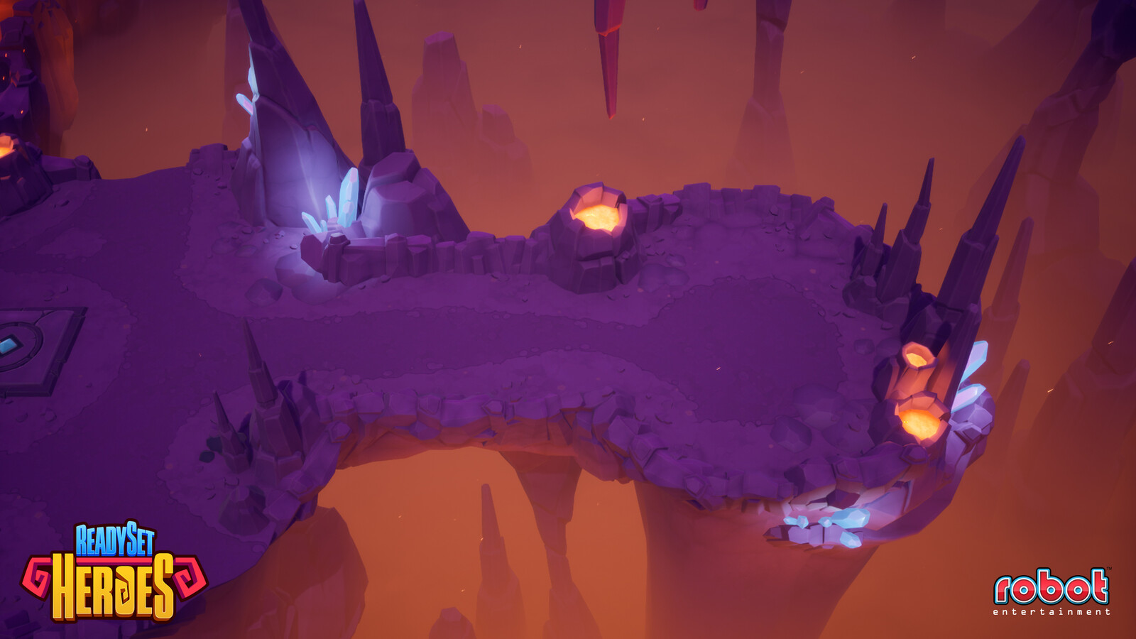 Lava cave art set - Created terrain materials and decals, modeled and textured the crystals, and built out levels.