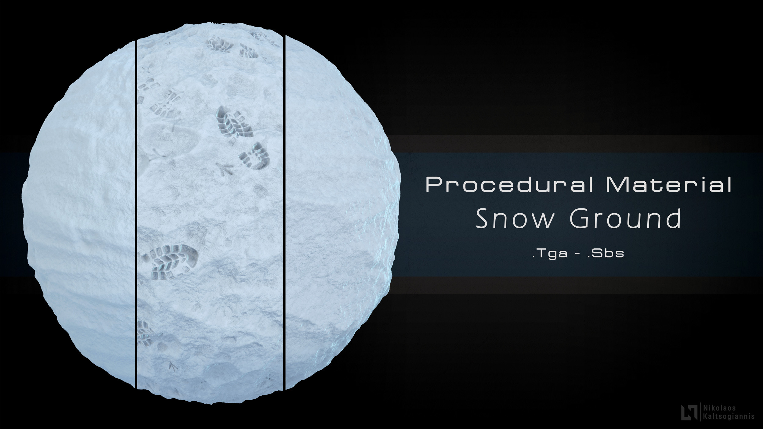 Store: https://www.artstation.com/nickoxart/store/376v/procedural-snow-material-3-variations