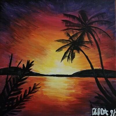 Daniel denta sunset acrylic 1