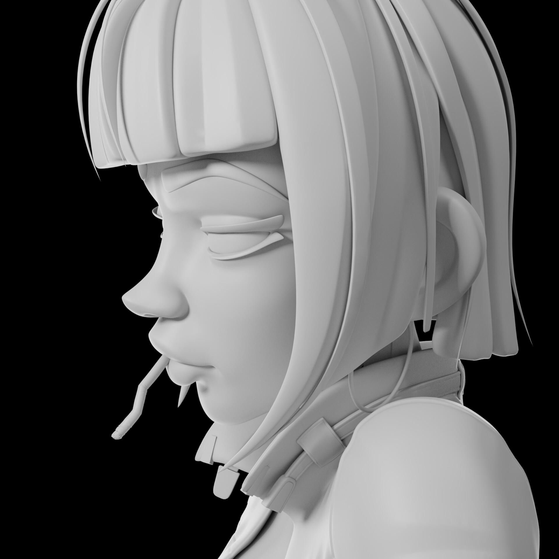 Sergi camprubi detail clay render 01