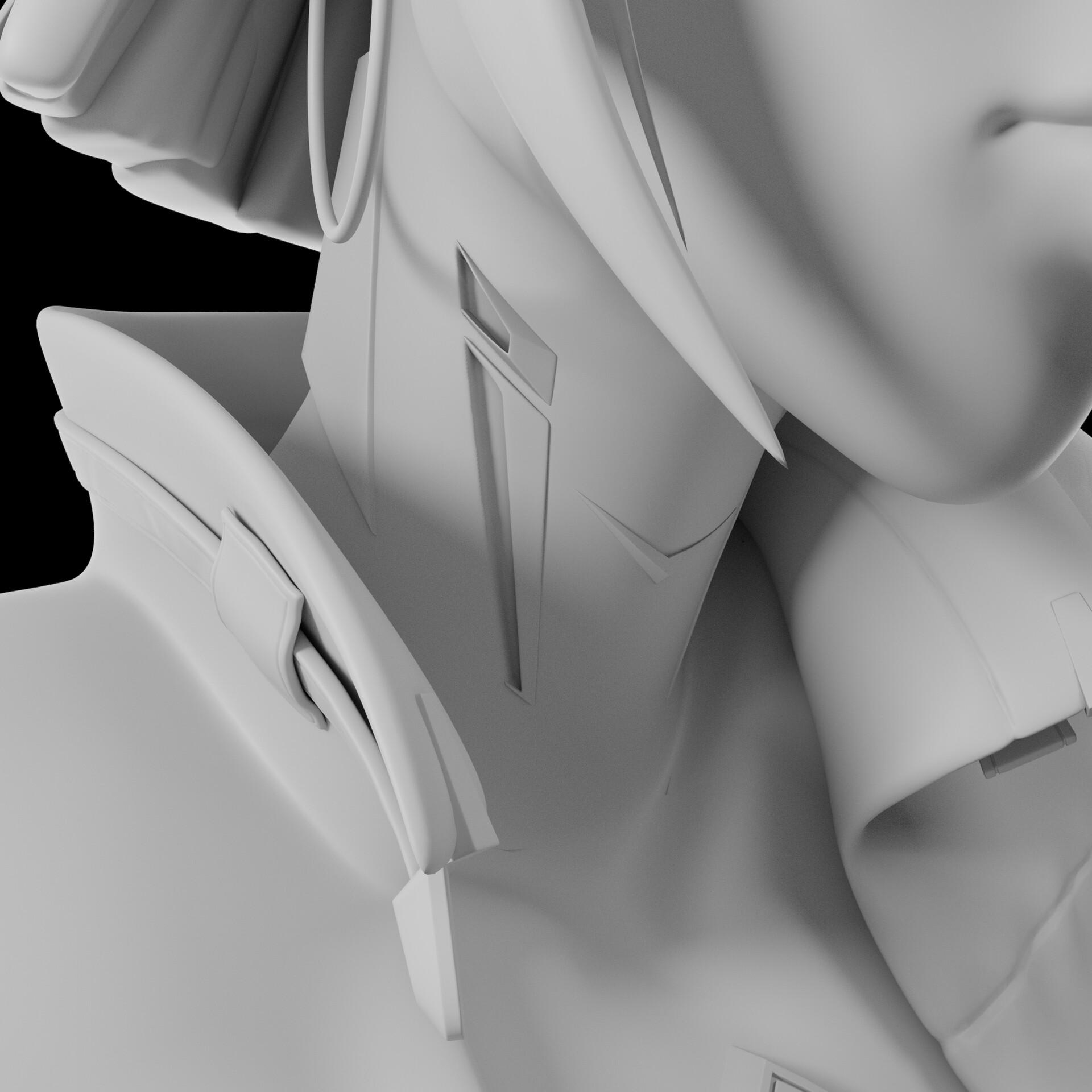 Sergi camprubi detail clay render 03