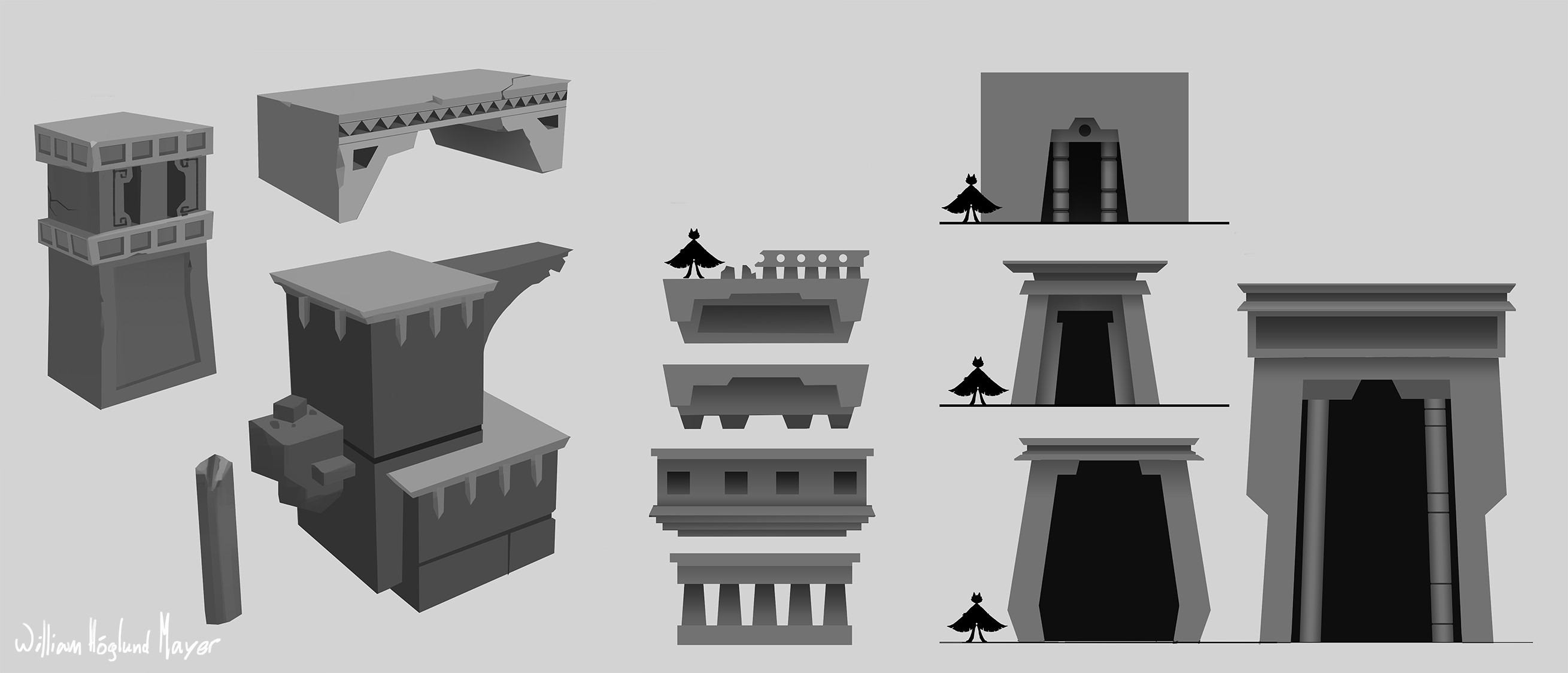 Concepts of ruins.