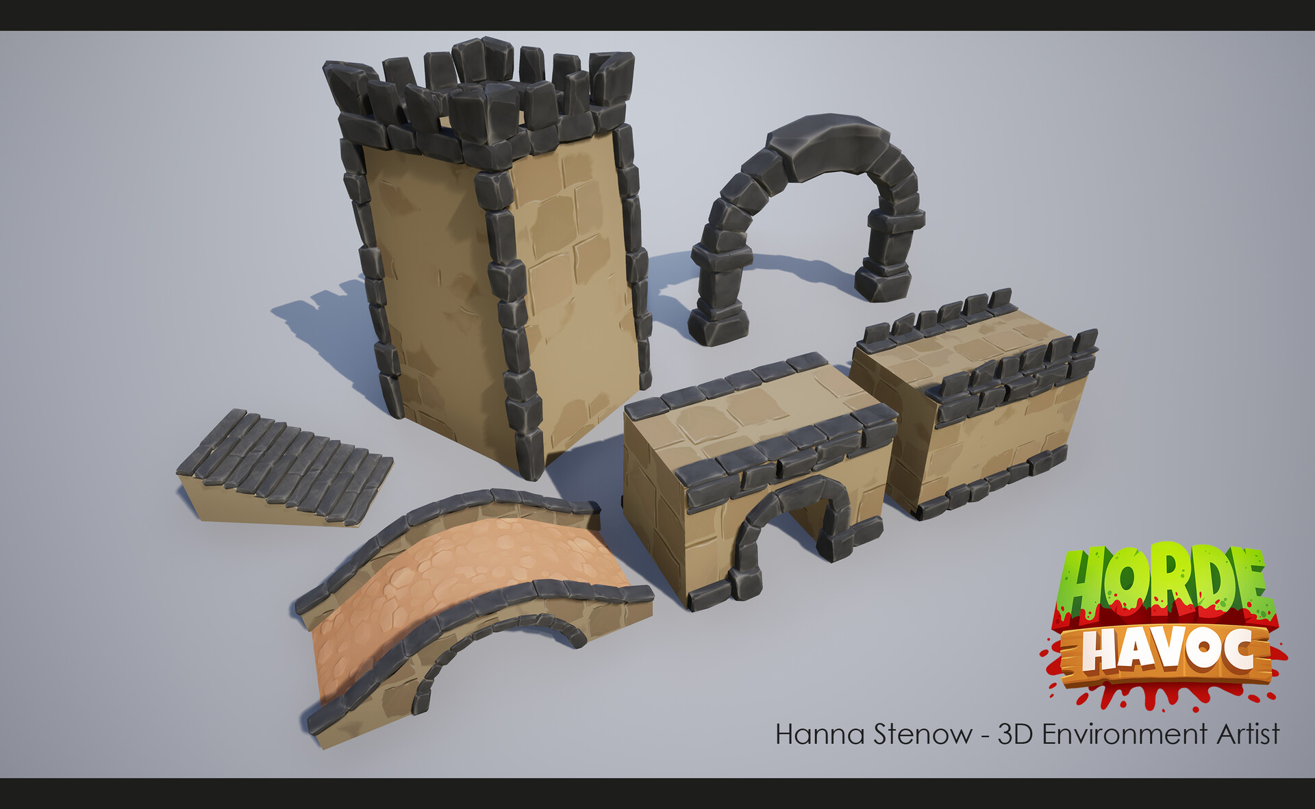Some assets for the castle levels! The tiling wall texture and floor texture is not created by me.