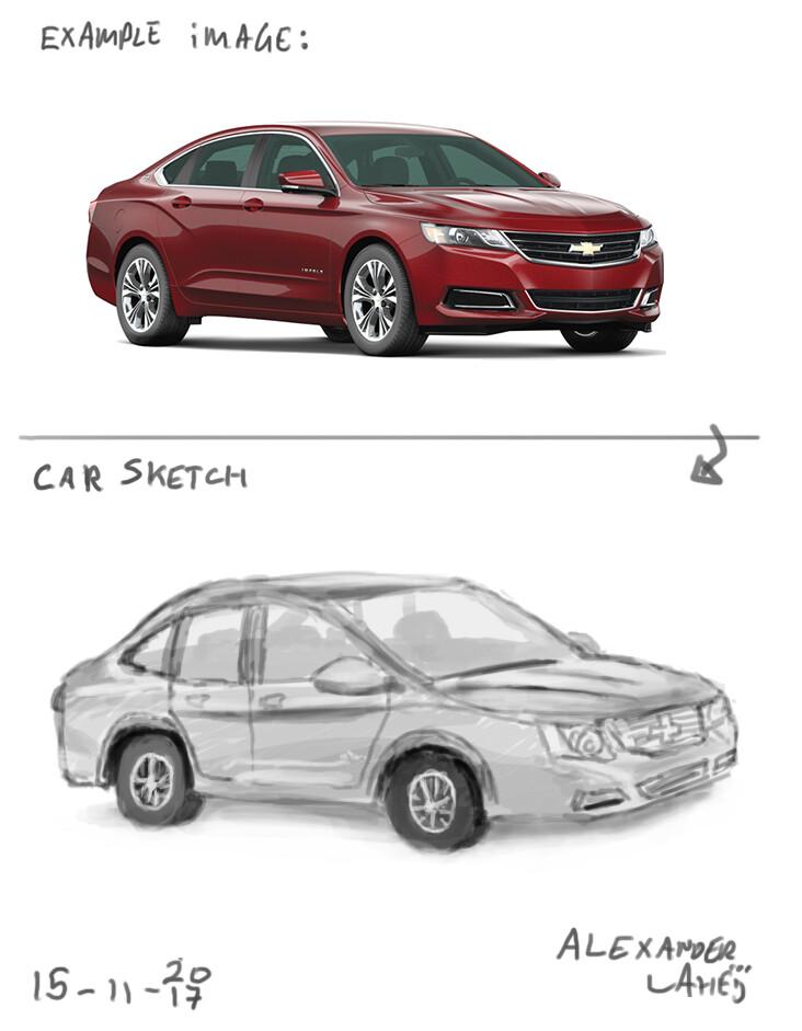 Alexander laheij car sketch