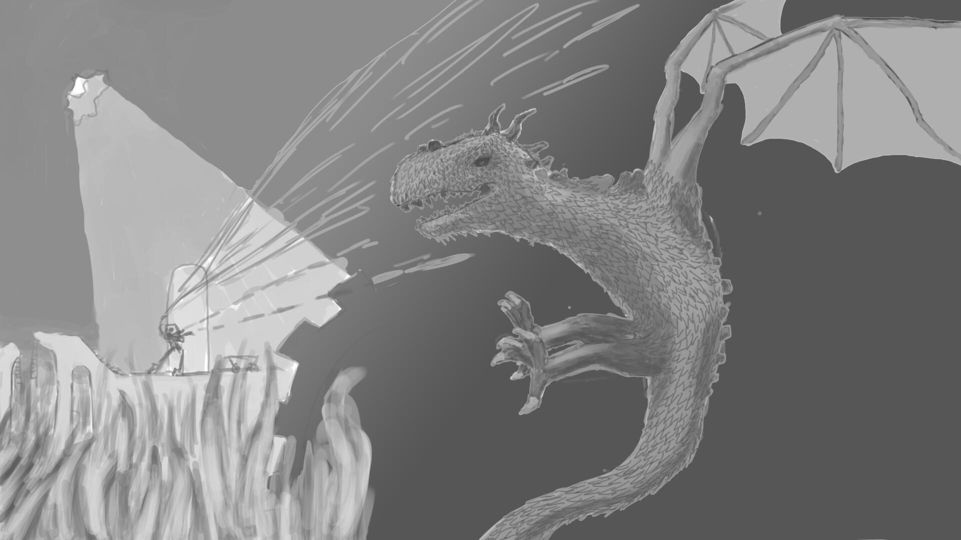 Alexander laheij dragon vs mech