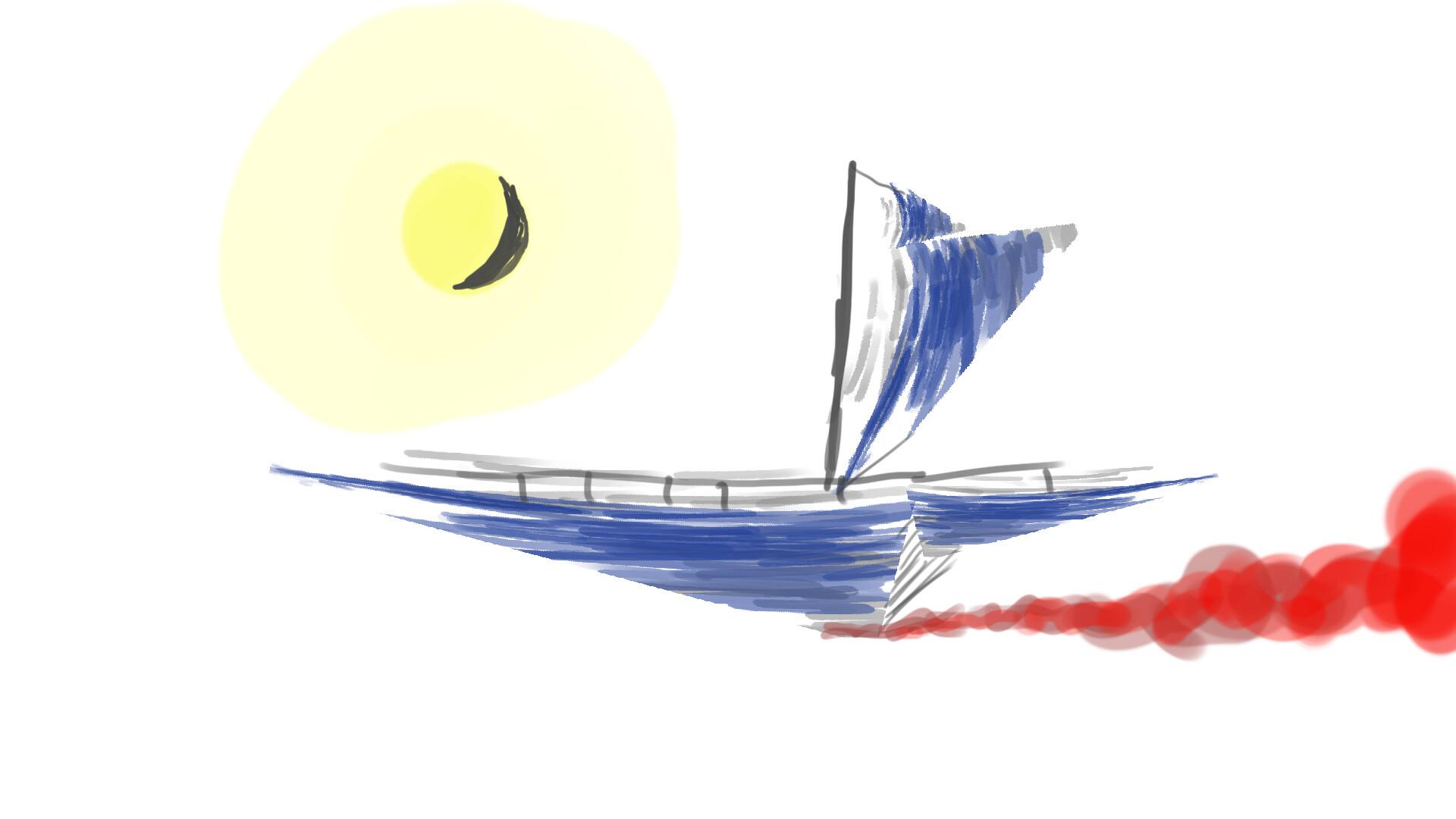 Alexander laheij boat sketch