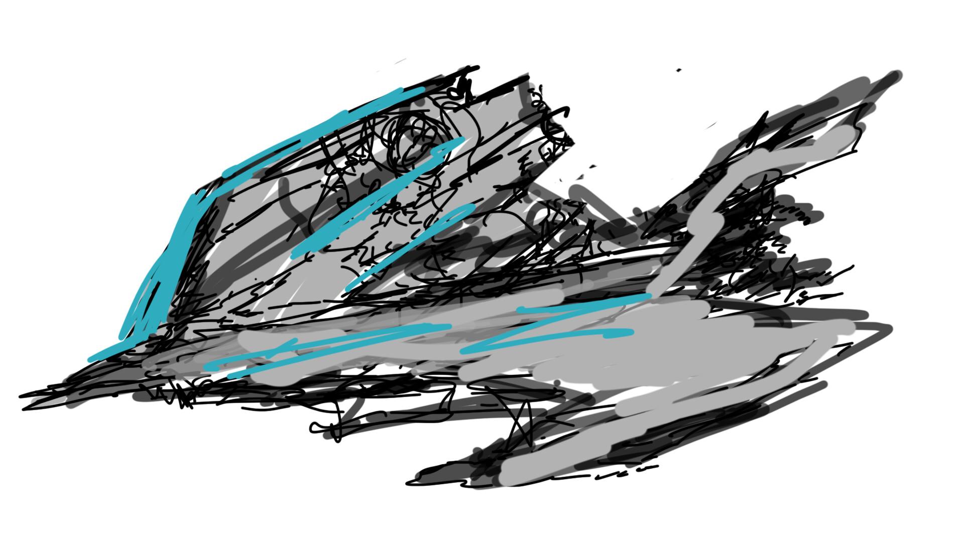 Alexander laheij ship sketch
