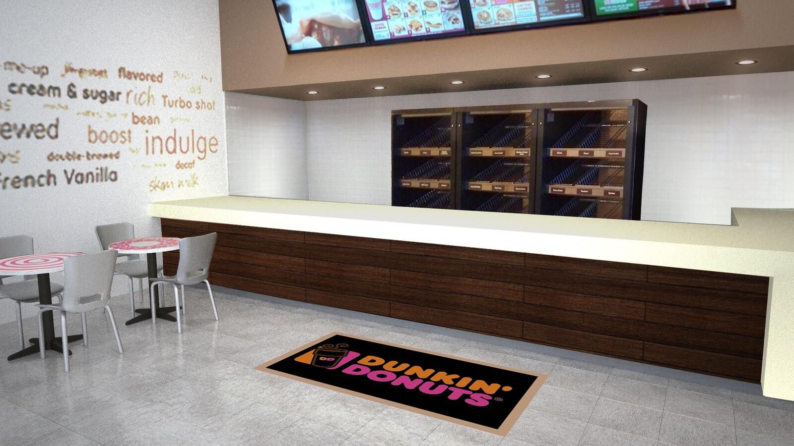 Dunkin Donuts set design