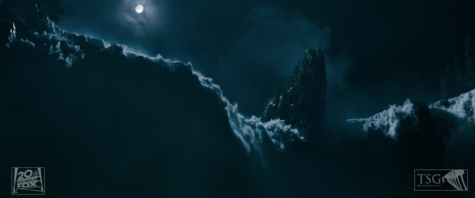 Digital Matte Painting CG Extensions (Moon and Sky and Clouds)