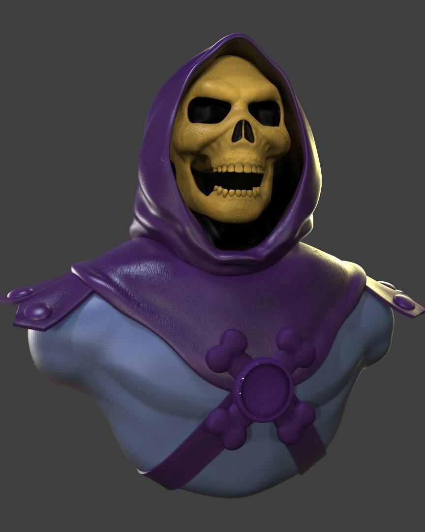 Skeletor Bust