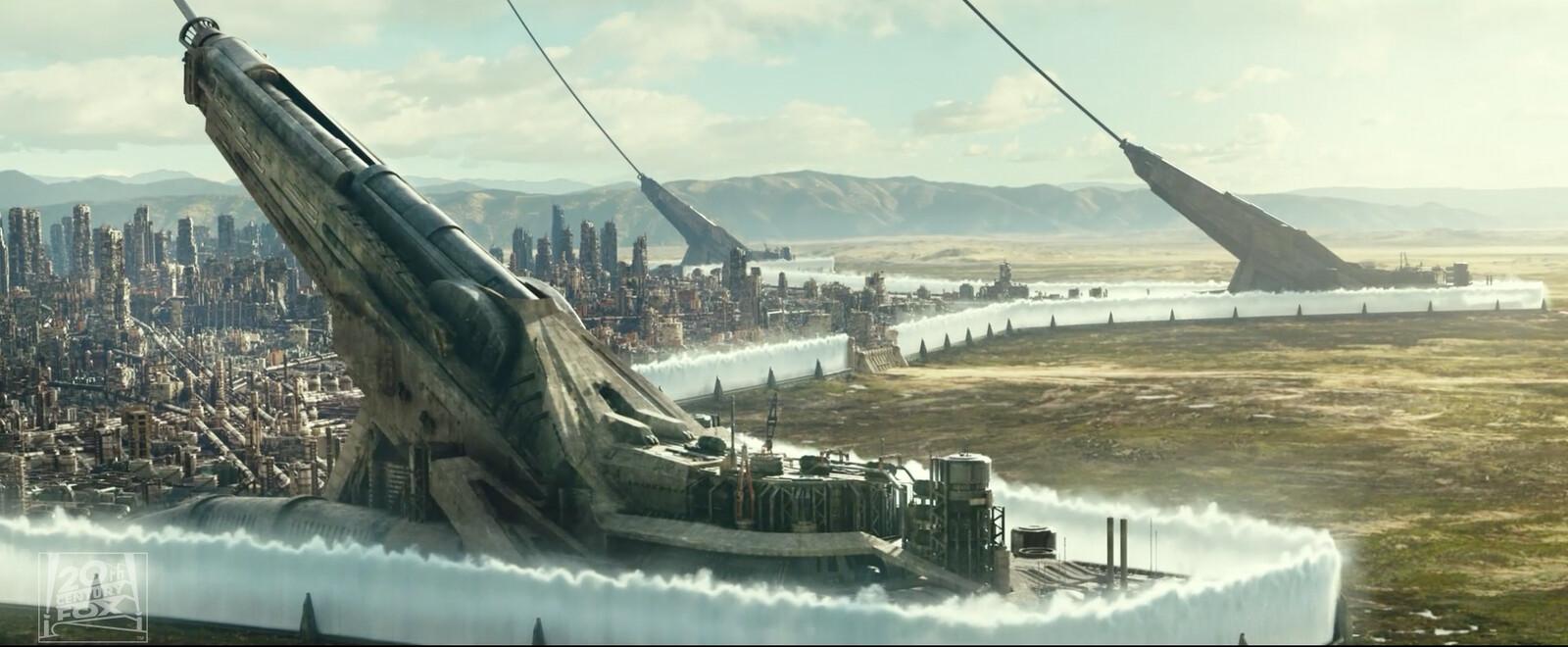 Exterior Environment: CG Ground + DMP Mountains and Sky.