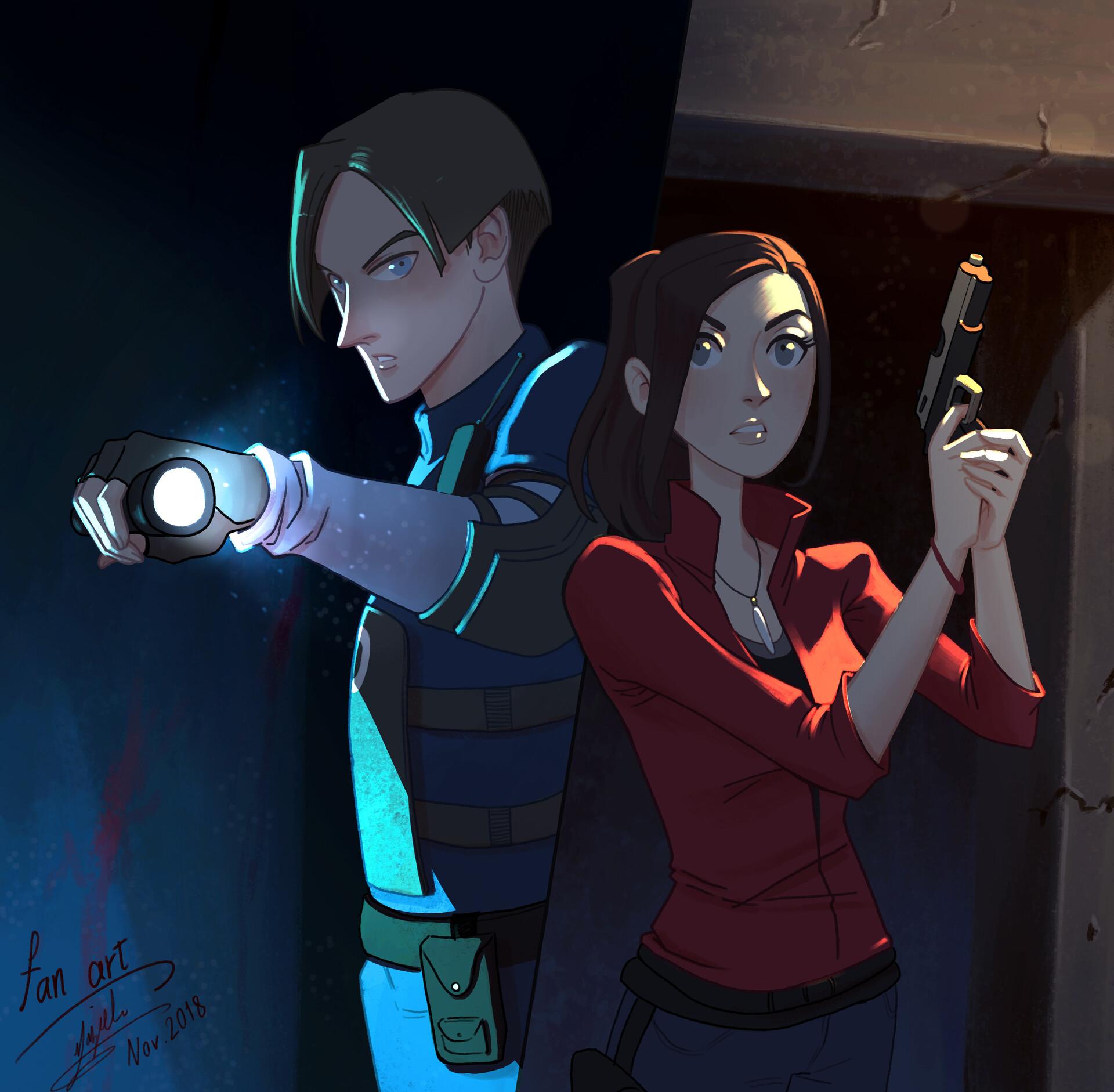 Artstation Resident Evil 2 Remake Fan Art Marzieh Meisami Azad