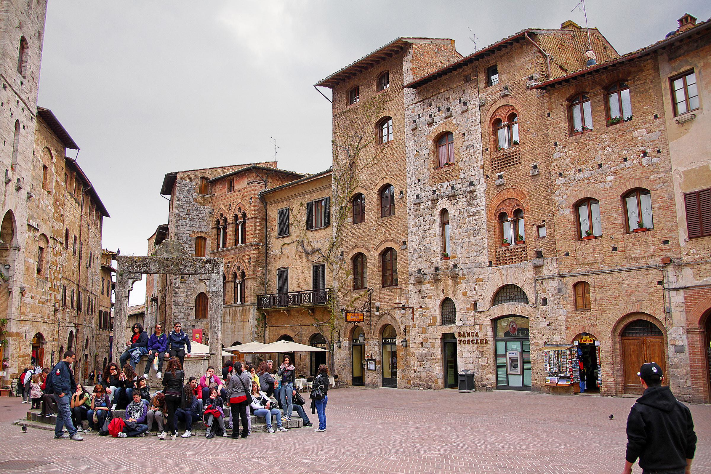 The main piazza of San Gimignano
