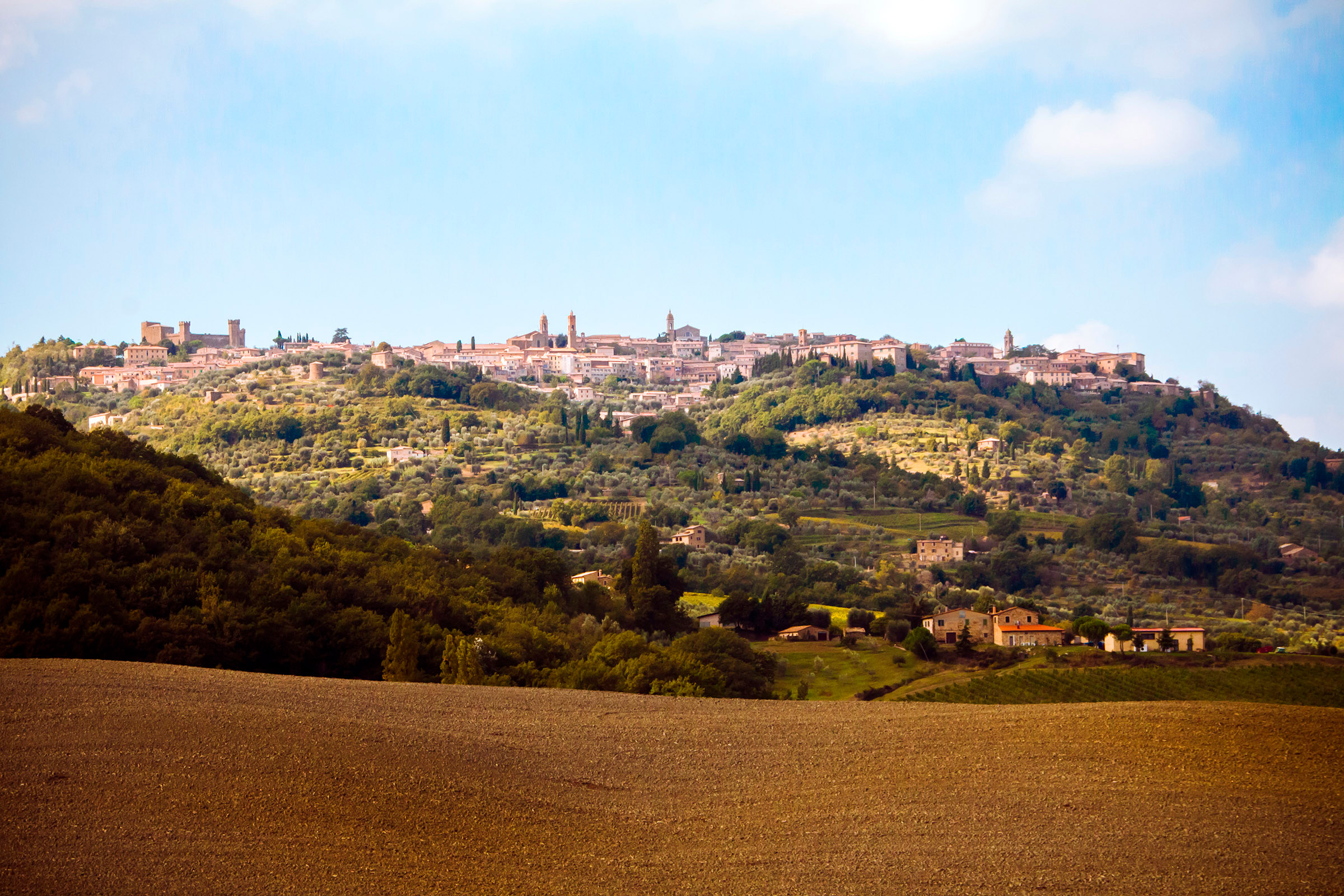 Montalcino in southern Tuscany
