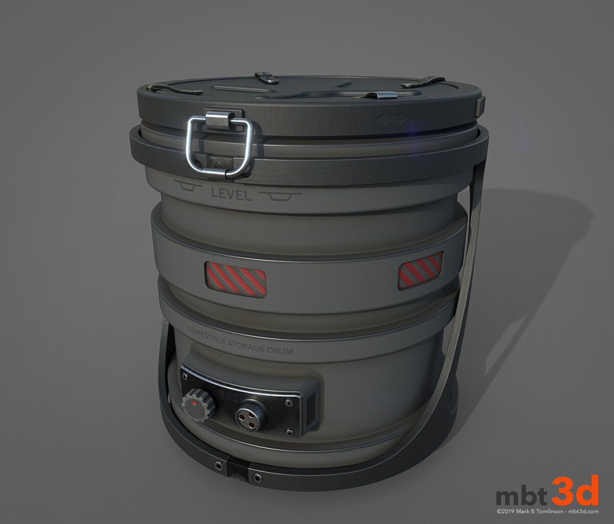 Drum: Substance Painter test render