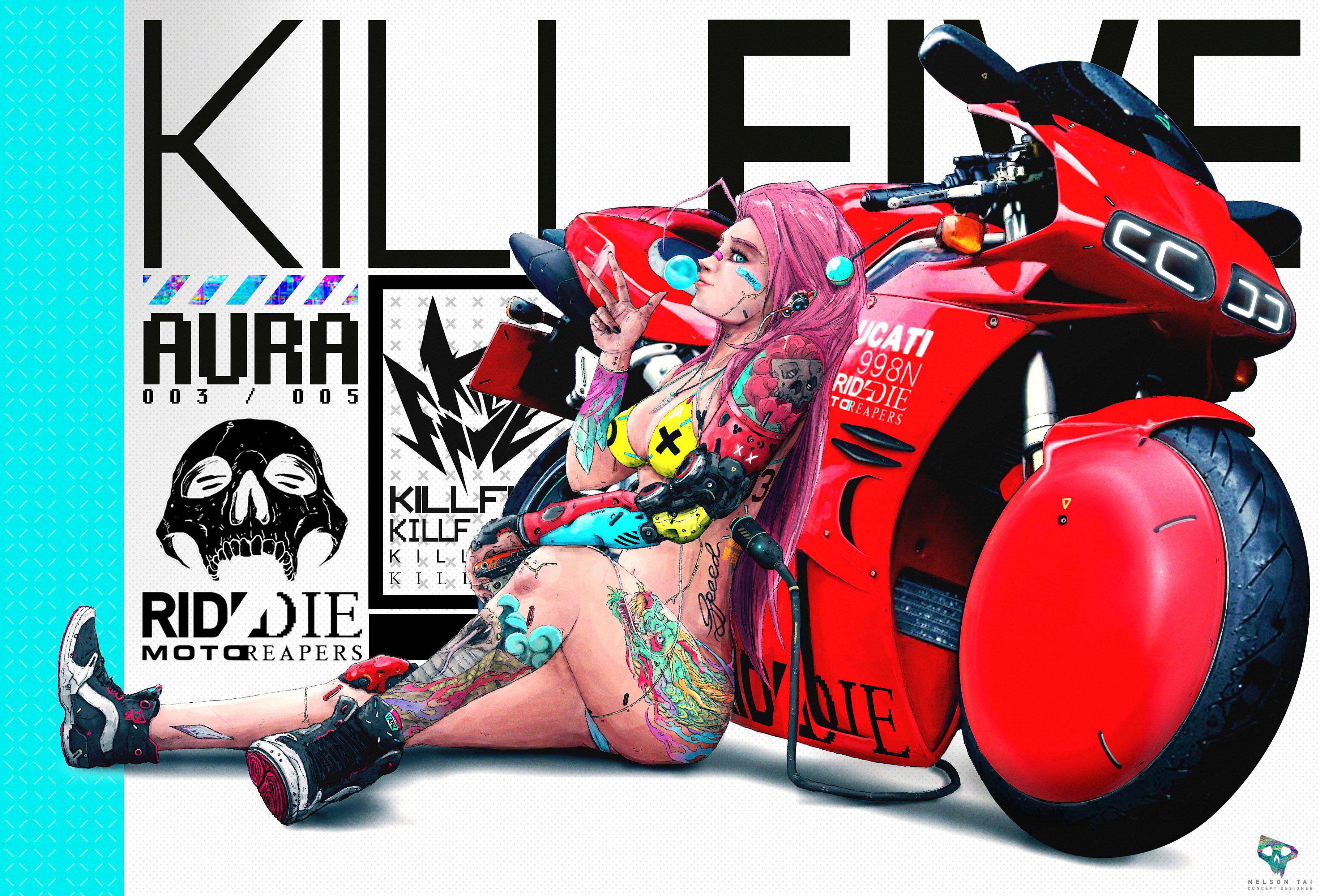 KILLF.I.V.E. crew - AURA. Sexy with attitude...