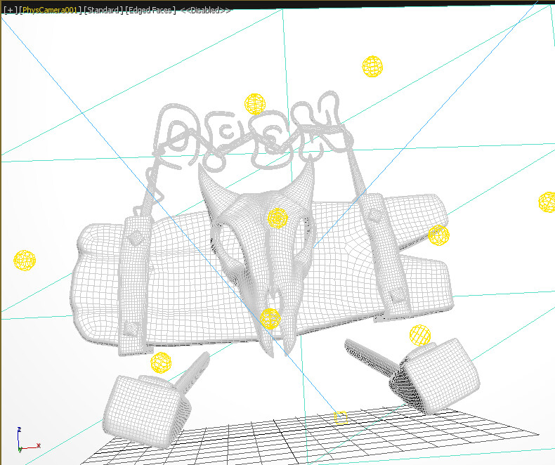 Wireframe view -  Mid Poly Meshes